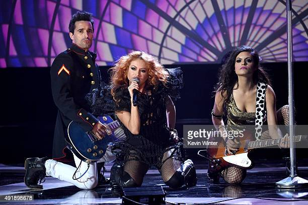 Paulina Rubio performs onstage during Telemundo's Latin American Music Awards at the Dolby Theatre on October 8 2015 in Hollywood California