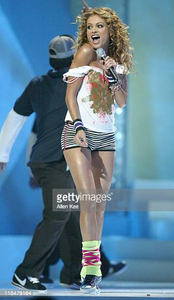 Paulina Rubio performs 'Te Quise Tanto' during 2004 Billboard Latin Music Awards Show at The Miami Arena in Miami Florida United States