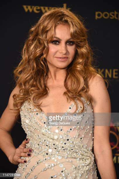 Paulina Rubio poses in the press room during the 46th annual Daytime Emmy Awards at Pasadena Civic Center on May 05 2019 in Pasadena California