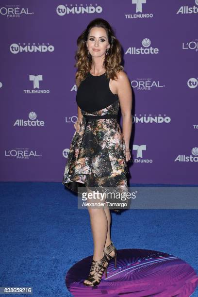 Paulina Sodi arrives at Telemundo's 2017 Premios Tu Mundo at American Airlines Arena on August 24 2017 in Miami Florida