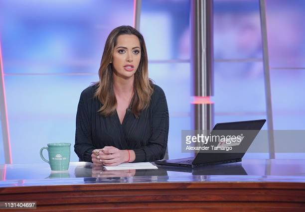 Paulina Sodi is seen during Un Nuevo Dia at Telemundo Center on March 18 2019 in Doral Florida