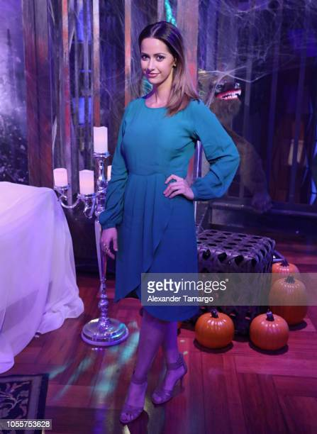 Paulina Sodi is seen on the set of Telemundo's Un Nuevo Dia Halloween Special on October 31 2018 in Miami Florida