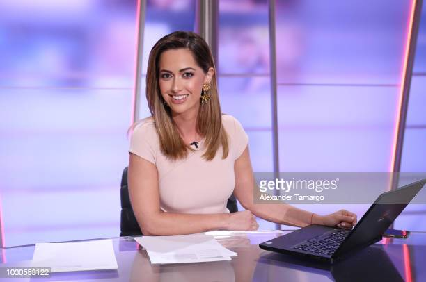 Paulina Sodi is seen on the set of Telemundo's Un Nuevo Dia morning show on September 10 2018 in Miami Florida