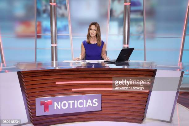Paulina Sodi on the new set of Un Nuevo Dia at Telemundo Center on May 21 2018 in Doral Florida