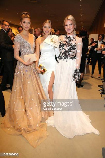 Paulina Swarovski and her sister Victoria Swarovski and Valentina Pahde during the 25th Opera Gala at Deutsche Oper Berlin on November 4, 2018 in...