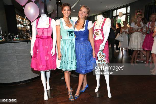 Paulina Swarovski and her sister Victoria Swarovski during the presentation of Victoria Swarovski's dirndl collection 'Candy Collection' by Krueger...