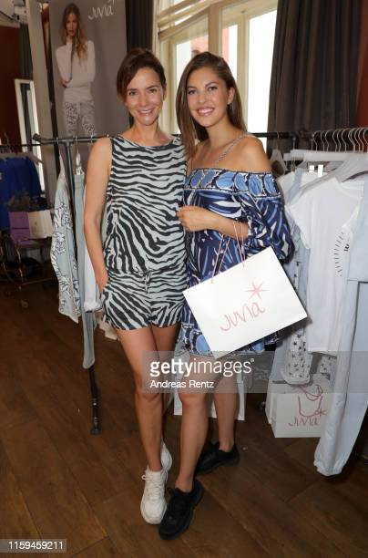 """Paulina Swarovski and Judith Dommermuth attend the """"Place To Be Private"""" event at Borchardt Restaurant on July 01, 2019 in Berlin, Germany."""