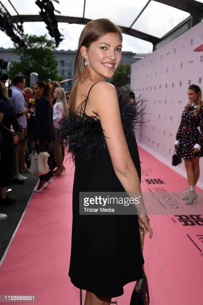 Paulina Swarovski attends the Riani show during the Berlin Fashion Week Spring/Summer 2020 at ewerk on July 3, 2019 in Berlin, Germany.