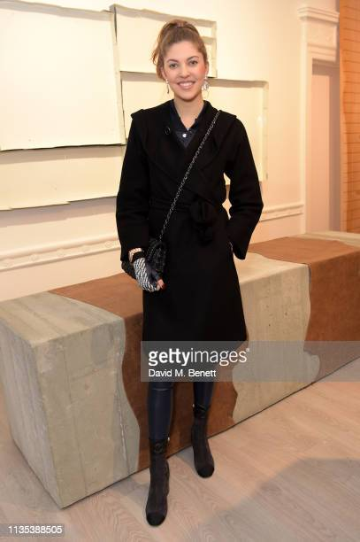 Paulina Swarovski attends 'Tribute To MonoHa' at the Cardi Gallery on March 12 2019 in London England