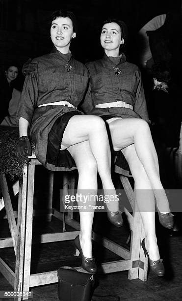 Pauline and Pamela Chamberlain twins from Leytonstone candidates to the election of the Perfect Legs election organized by the photographer Peter...