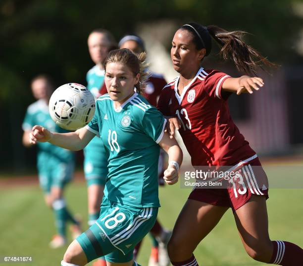 Pauline Berning of Germany U16 and Aolani Godoy of Mexico U16 in action during the 2nd Female Tournament 'Delle Nazioni' match between Germany U16...