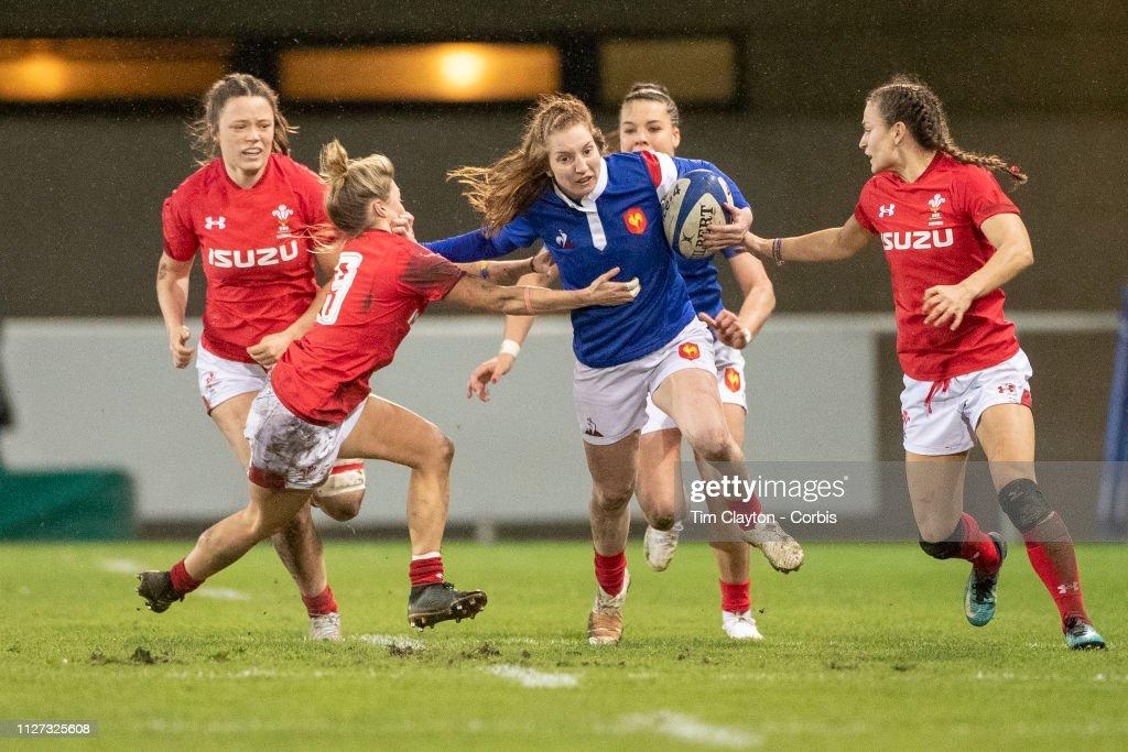 France V Wales. Women's Six Nations Championship. : Photo d'actualité