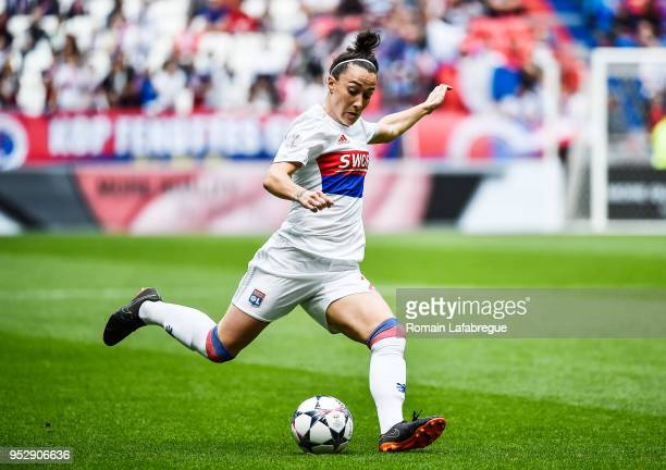 Pauline Bremer of Lyon during the UEFA Women's Champions League Semi Final Second Leg match between Olympique Lyonnais and Manchester City at...
