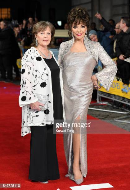 Pauline Collins and Dame Joan Collins attend the World Premiere of 'The Time Of Their Lives' at the Curzon Mayfair on March 8 2017 in London United...