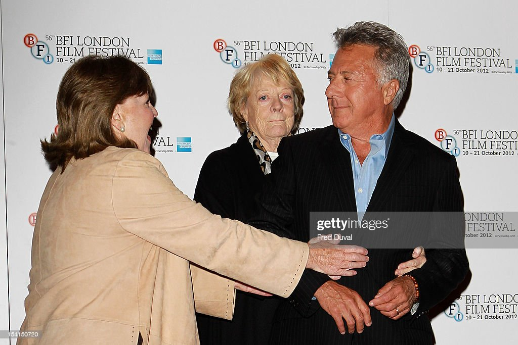 Pauline Collins, Maggie Smith and Dustin Hoffman attend the Photocall for 'Quartet' at the BFI London Film Festival at Empire Leicester Square on October 15, 2012 in London, England.