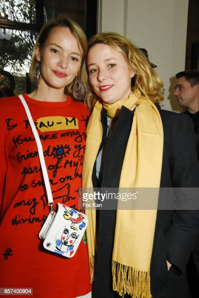 Pauline de Drouas and her sister Marie de Drouas attend the Lignee by jean Charles de Castelbajac Father an sons hosted by Fujifilm X Instax Launch...