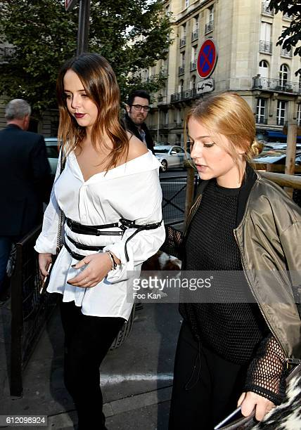Pauline Ducruet and a guest attend the John Galliano show as part of the Paris Fashion Week Womenswear Spring/Summer 2017 on October 2 2016 in Paris...