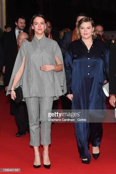 Pauline Ducruet and Camille Gottlieb attend the 44th International Circus Festival on January 18 2020 in Monaco Monaco