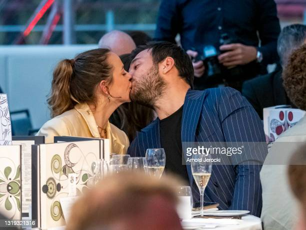 Pauline Ducruet and Maxime Giaccardi attend the Amber Lounge 2021 Fashion Show on May 21, 2021 in Monte-Carlo, Monaco.