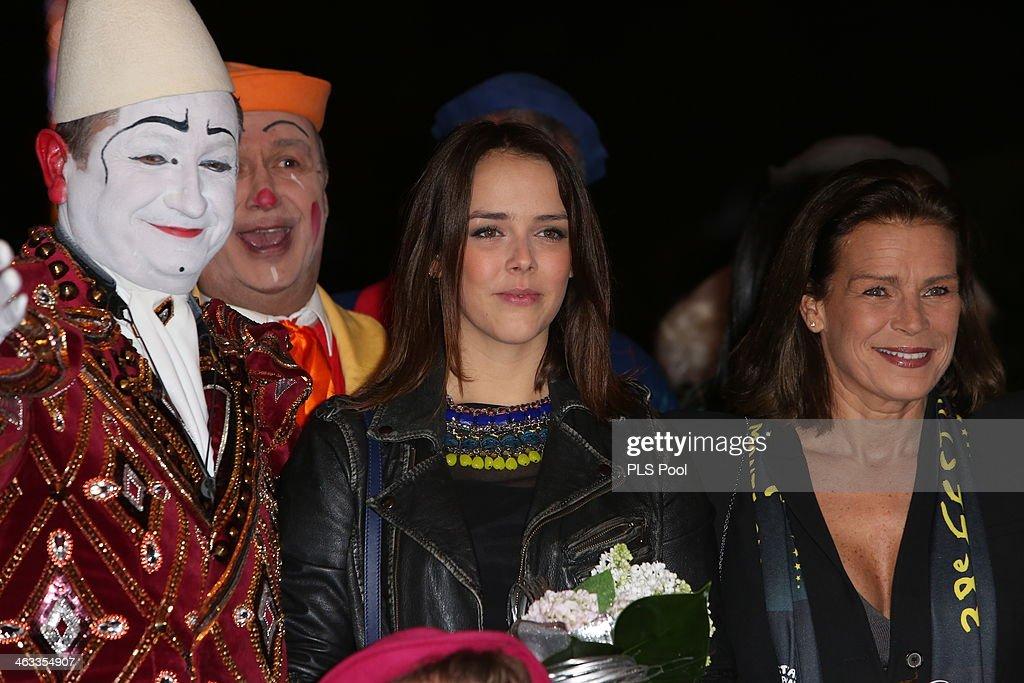 Pauline Ducruet and Princess Stephanie of Monaco attend the 38th International Circus Festival on January 17, 2014 in Monte-Carlo, Monaco.