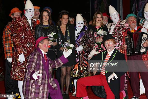 Pauline Ducruet and Princess Stephanie of Monaco attend the 38th International Circus Festival on January 17 2014 in MonteCarlo Monaco