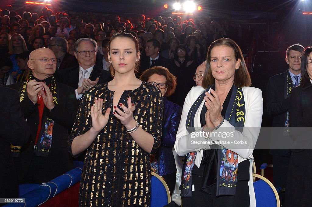 Pauline Ducruet and Princess Stephanie of Monaco attend the 38th International Circus Festival on January 21, 2014 in Monte-Carlo, Monaco.