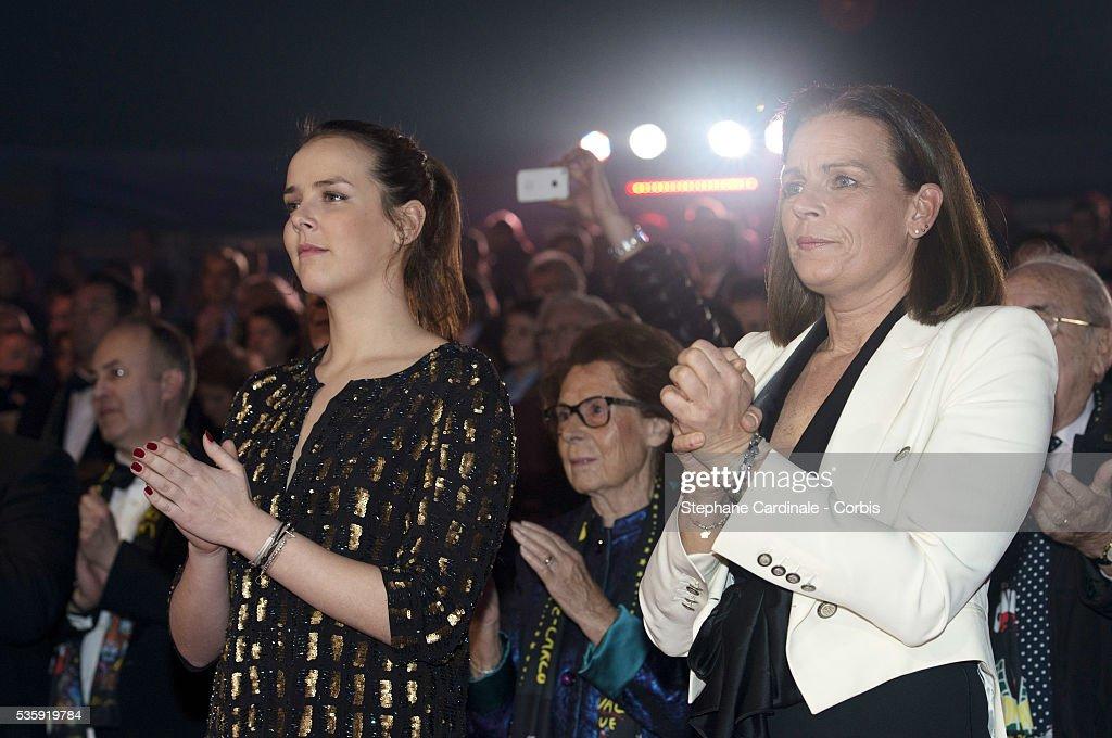 Pauline Ducruet and Princess Stephanie of Monaco attend the 38th International Circus Festival on January 21, 2014 in Monte-Carlo, Monaco.