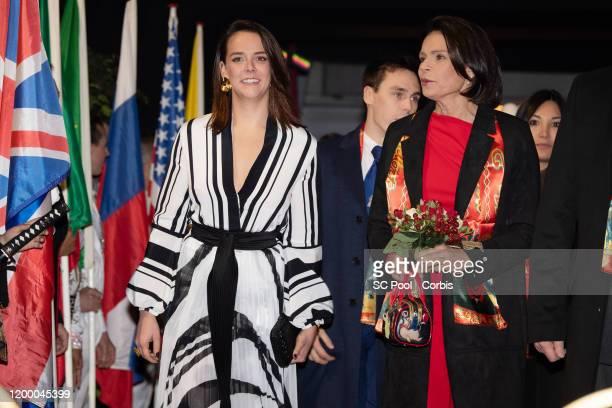 Pauline Ducruet and Princess Stephanie of Monaco attend the 44th International Circus Festival on January 16, 2020 in Monaco, Monaco.