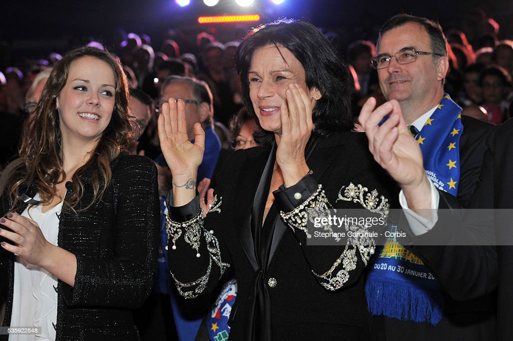 Pauline Ducruet and Princess Stephanie of Monaco attend the official Award Gala evening of the 35th Monte Carlo International Circus Festival.