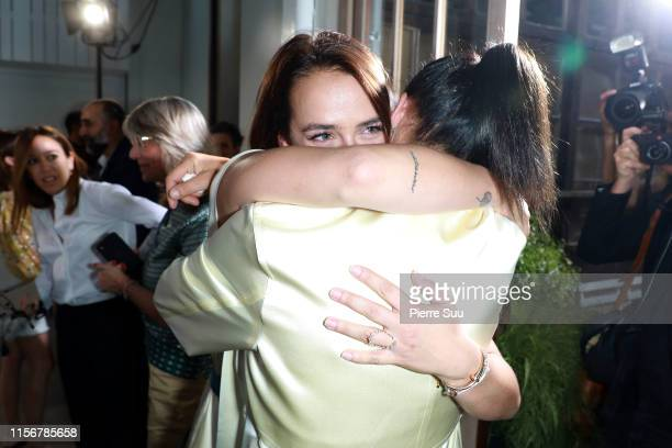 Pauline Ducruet and Stephanie of Monaco attend the Alter Design Menswear Spring Summer 2020 show as part of Paris Fashion Week on June 18, 2019 in...