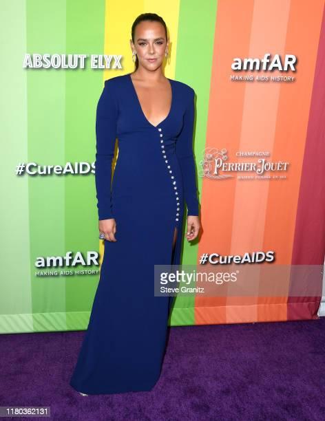 Pauline Ducruet arrives at the amfAR Gala Los Angeles at Milk Studios on October 10, 2019 in Los Angeles, California.