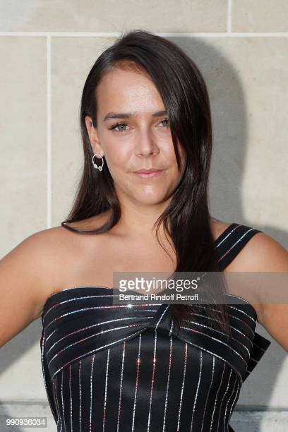 Pauline Ducruet attends the Giorgio Armani Prive Haute Couture Fall Winter 2018/2019 show as part of Paris Fashion Week on July 3 2018 in Paris France