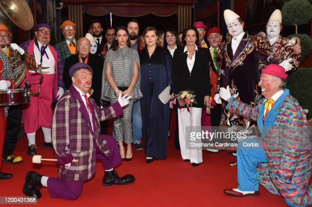 Pauline Ducruet, Camille Gottlieb and Princess Stephanie of Monaco attend the 44th International Circus Festival on January 18, 2020 in Monaco,...