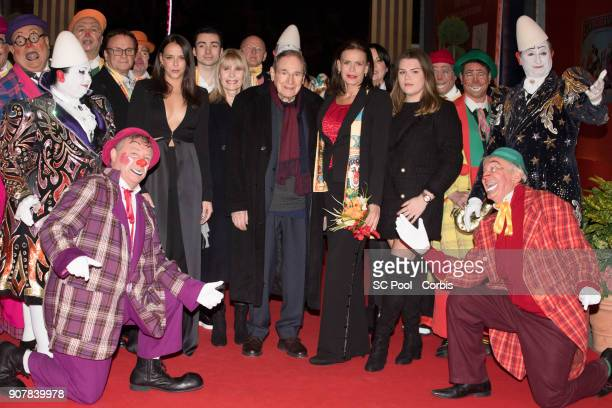 Pauline Ducruet Candice Patou Robert Hossein Princess Stephanie of Monaco and Camille Gottlieb attend the 42nd International Circus Festival In...