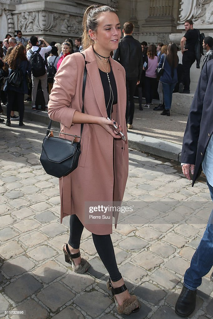 Pauline Ducruet leaves the Mugler show as part of the Paris Fashion Week Womenswear Spring/Summer 2017 on October 1, 2016 in Paris, France.