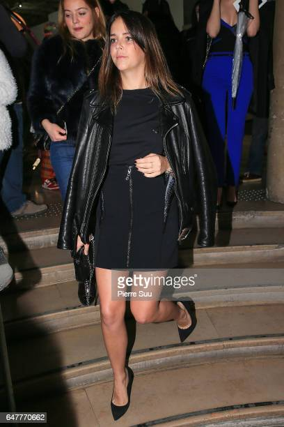 Pauline Ducruet leaves the Mugler show as part of the Paris Fashion Week Womenswear Fall/Winter 2017/2018 on March 4 2017 in Paris France