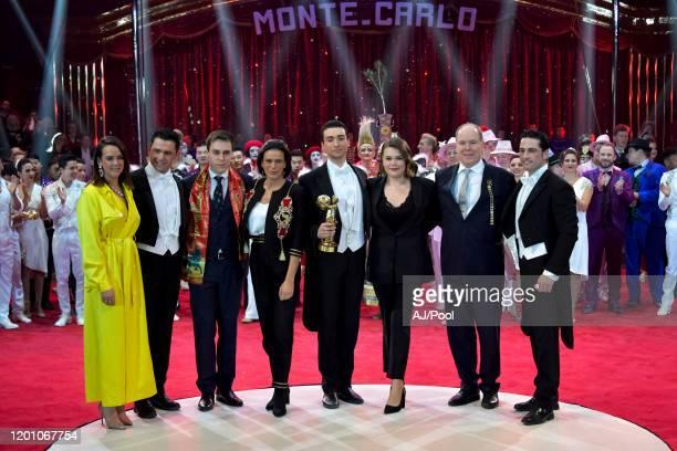 Pauline Ducruet Louis Ducruet Princess Stephanie of Monaco Camille Gottlieb Prince Albert II of Monaco and La cavalerie du cirque Knie attends the...