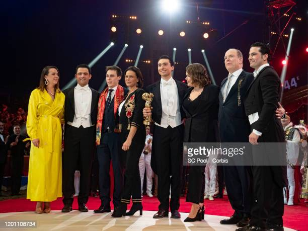 Pauline Ducruet Louis Ducruet Princess Stephanie of Monaco Camille Gottlieb Prince Albert II of Monaco and La cavalerie du cirque Knie attend the...