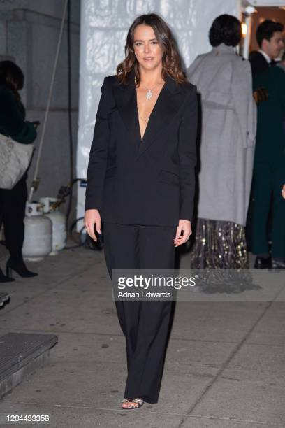 Pauline Ducruet outside the amFAR Gala held at Cipriani Wall St on February 5, 2020 in New York City.