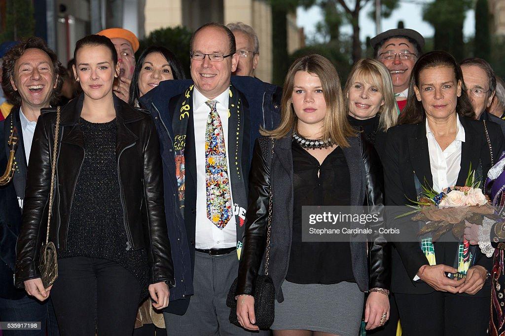 Pauline Ducruet, Prince Albert II of Monaco, Camille Gottlieb and Princess Stephanie of Monaco attend the 38th International Circus Festival, in Monaco.