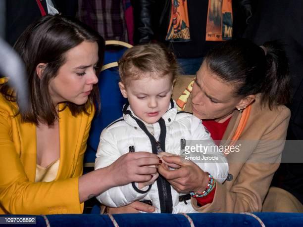 Pauline Ducruet Princess Gabriella and Princess Stephanie of Monaco attend the 43rd International Circus Festival of MonteCarlo on January 20 2019 in...