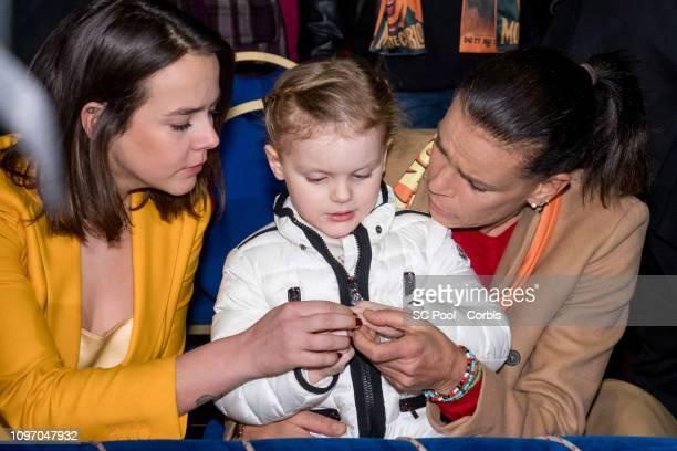 Pauline Ducruet Princess Gabriella of Monaco and Princess Stephanie of Monaco attend the 43rd International Circus Festival of MonteCarlo on January...