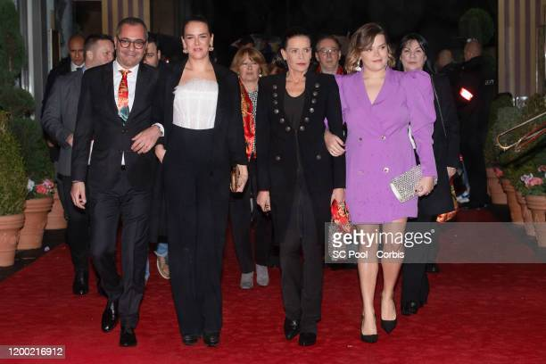 Pauline Ducruet Princess Stephanie of Monaco and Camille Gottlieb attend the 44th International Circus Festival on January 17 2020 in Monaco Monaco