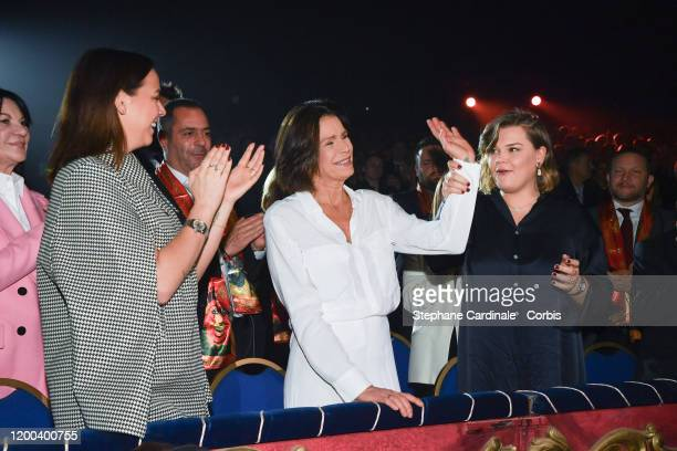 Pauline Ducruet Princess Stephanie of Monaco and Camille Gottlieb attend the 44th International Circus Festival on January 18 2020 in Monaco Monaco