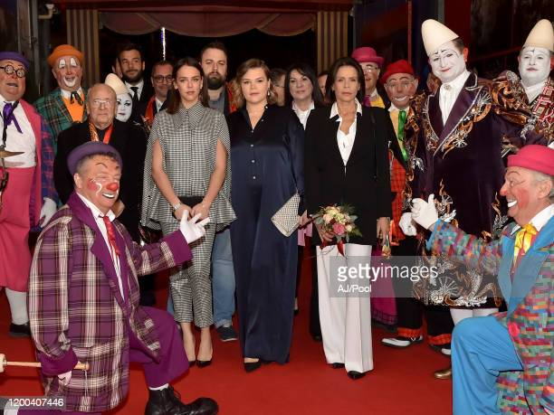 Pauline Ducruet Princess Stephanie of Monaco and Camille Gottlieb attends the 44th International Circus Festival on January 18 2020 in Monaco Monaco