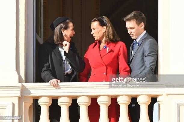 Pauline Ducruet Princess Stephanie of Monaco and Louis Ducruet attend Monaco National Day Celebrations on November 19 2018 in MonteCarlo Monaco