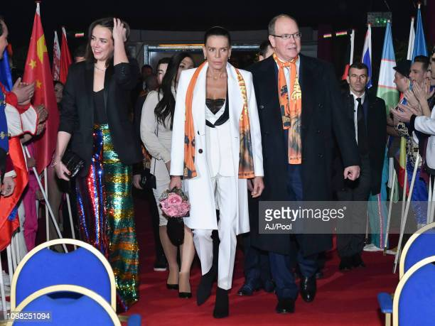 Pauline Ducruet Princess Stephanie of Monaco and Prince Albert II of Monaco attend the 43rd International Circus Festival of MonteCarlo on January 22...