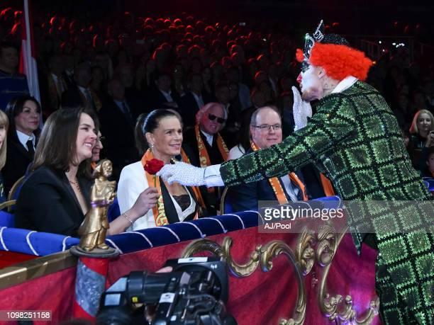 Pauline Ducruet Princess Stephanie of Monaco and Prince Albert II of Monaco attend the 43rd International Circus Festival of MonteCarlo on January 22...