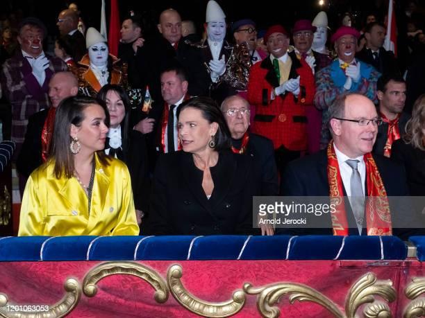 Pauline Ducruet Princess Stephanie of Monaco and Prince Albert II of Monaco attend the 44th International Circus Festival on January 21 2020 in...