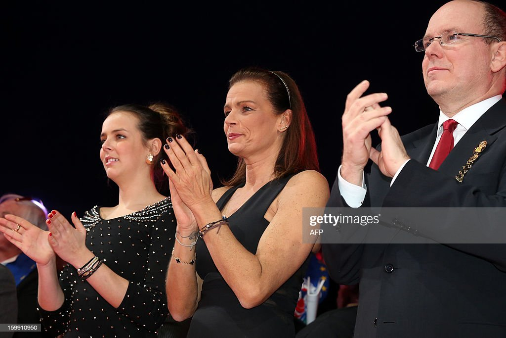 Pauline Ducruet, Princess Stephanie of Monaco and Prince Albert II of Monaco attend the official Award Gala Evening of the 37th International Circus Festival of Monte Carlo in Monaco, 22 January 2013.